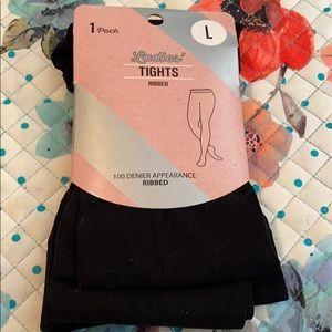 Ladies Large Ribbed tights NWT